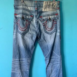 True religion jean pant red stitching